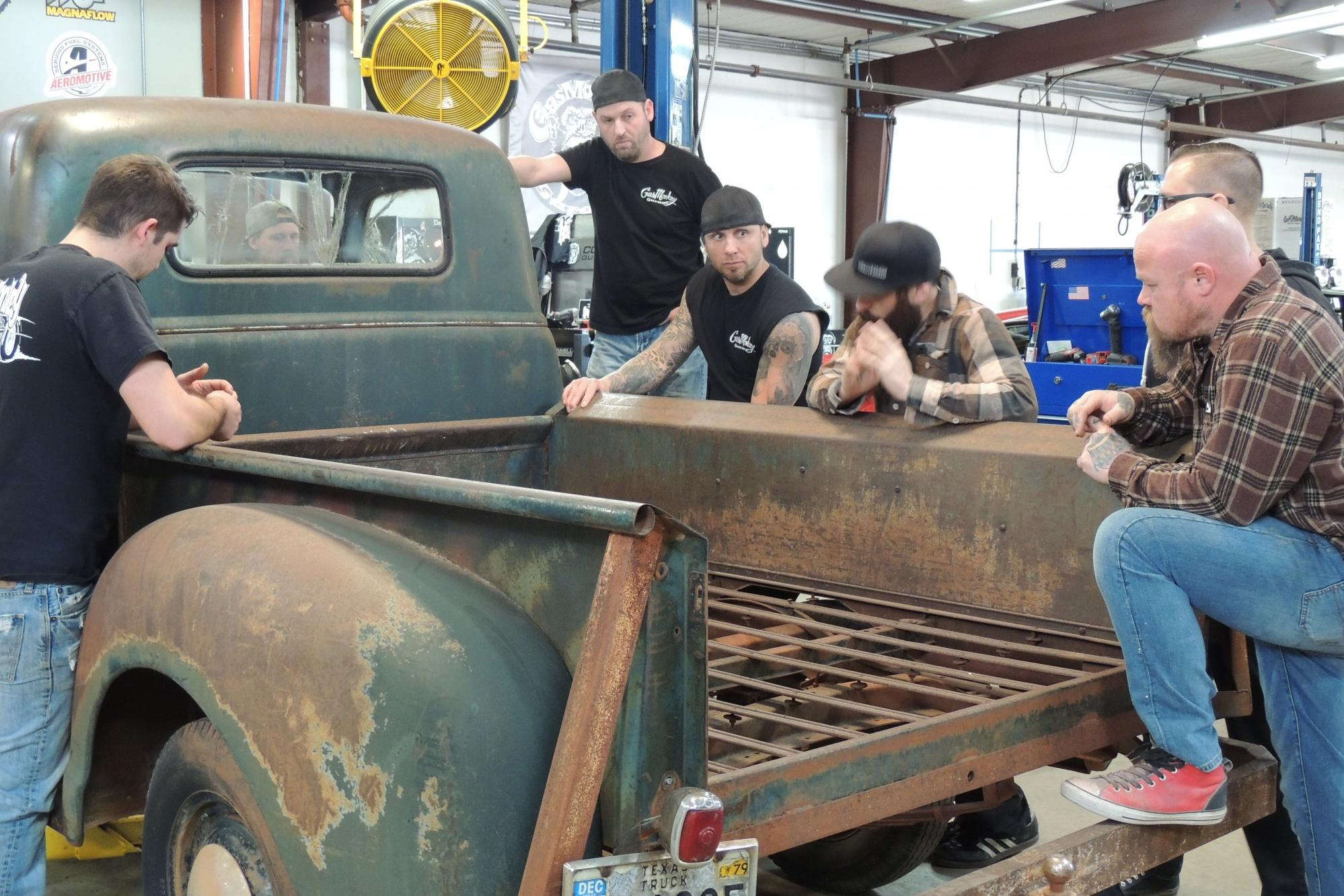 1949 Chevy C 10 Pickup Fast N Loud Discovery 1942 Truck Seat Image Credit Dci