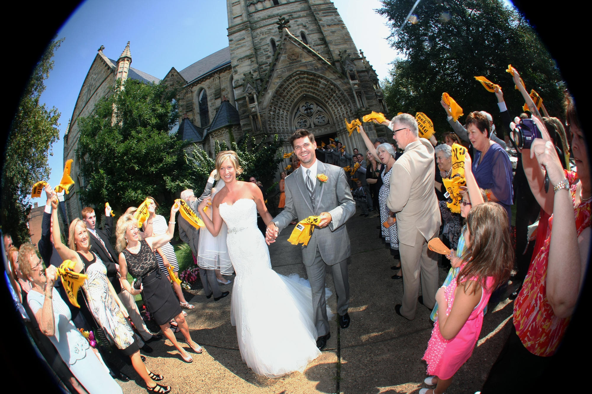Laura Ann And Patrick Got Married At A Church Before Heading To The Reception Heinz