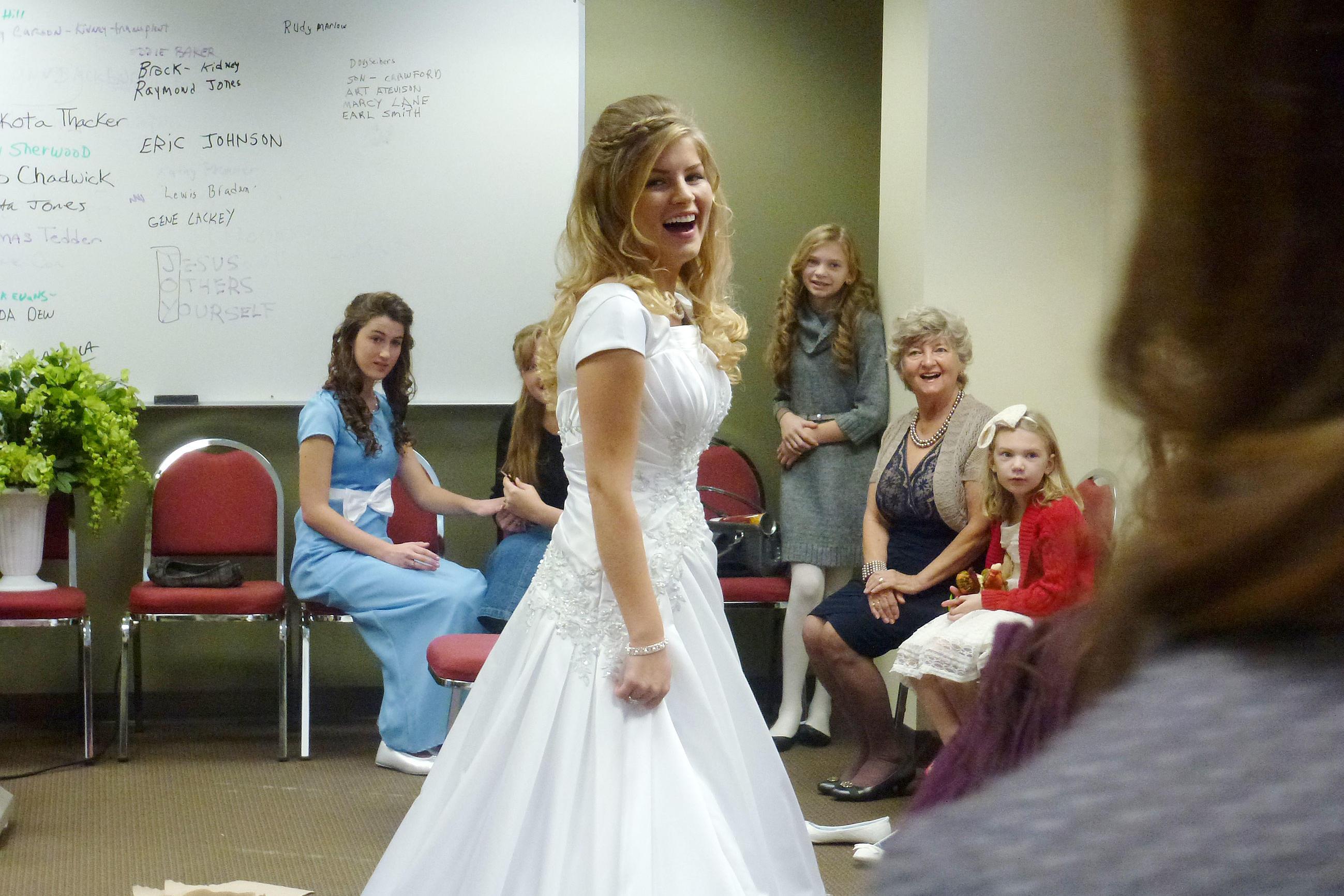 Erin Bates Models Her Wedding Dress