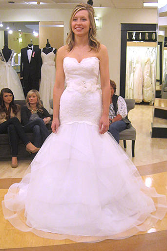 An Airy Bright White Fit And Flare Dress Transitions Easily Between Ceremony Reception With