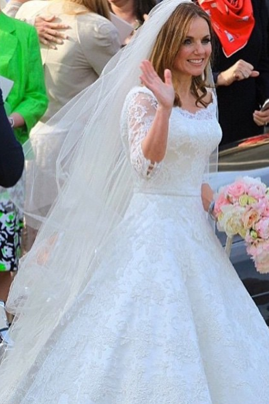 11 Celebrity Bridal Gowns Inspired by Kate Middleton\'s Iconic ...