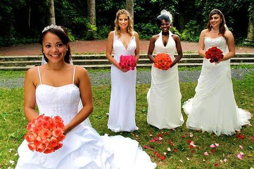 Brides Left To Right Alana Kati Tara And Editza