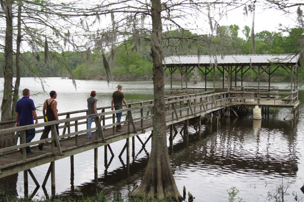 Many homes in the bayou come with a dock, a prized commodity.