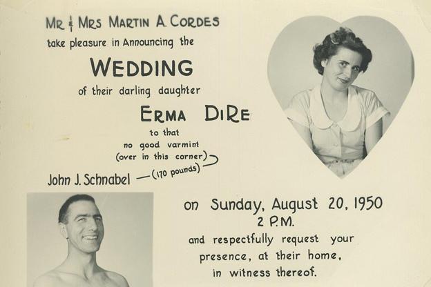 wedding invitation from 1950