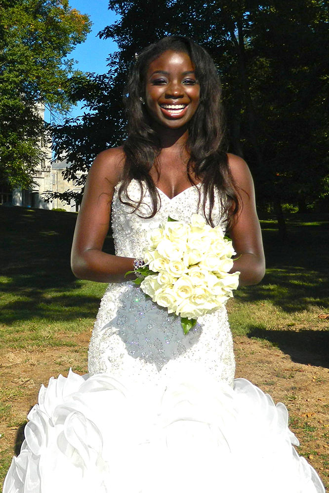 Anthonia In Her Wedding Dress