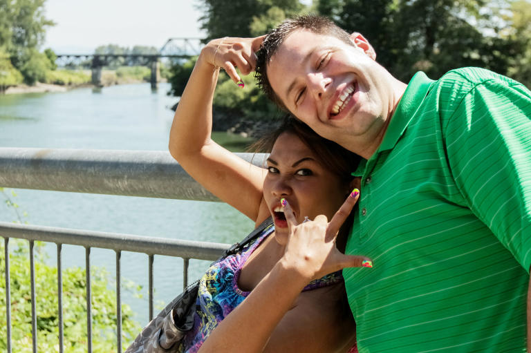Their love is serious, but Daya and Brett aren't afraid of being silly together.
