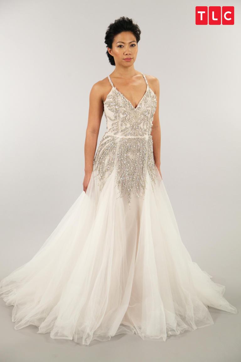 Hayley Paige A Line Dress