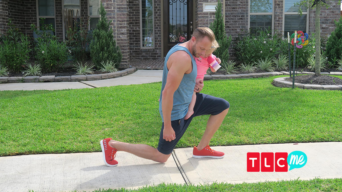 Adam Busby has the Cutest Daddy-Daughter Workout | TLCme | TLC
