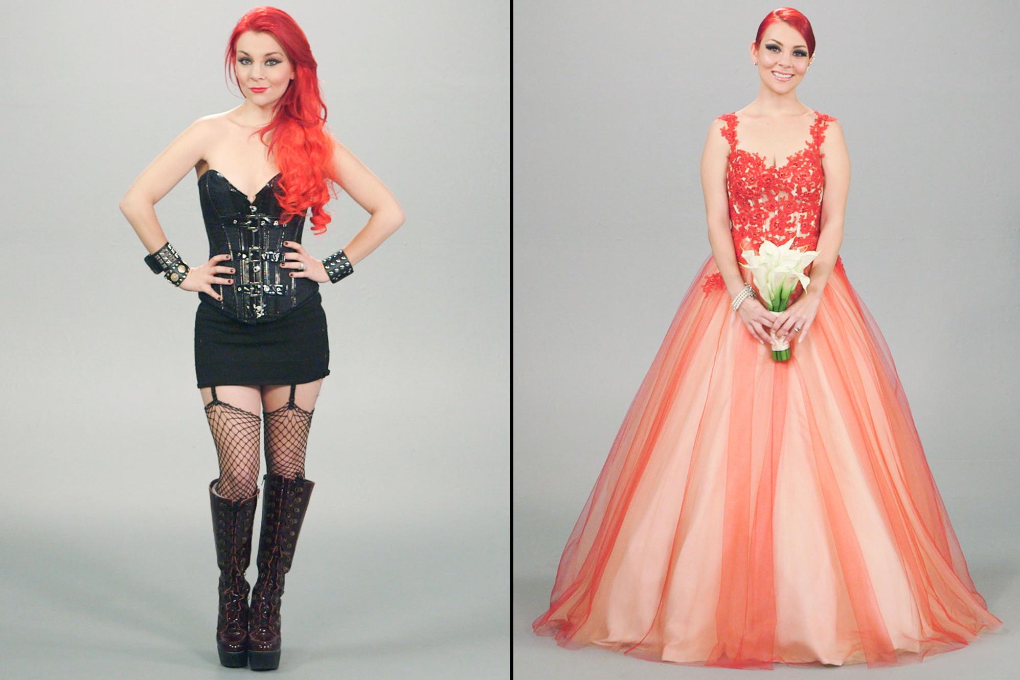 Latex wedding dress brides gone styled georgette